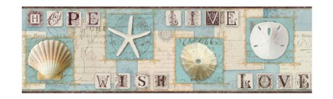 York Wallcoverings Bg1641Bd Beach Journal Border