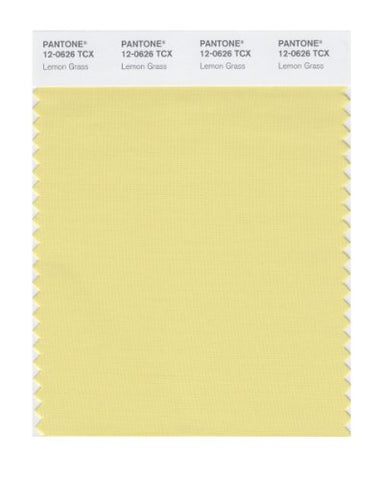 Pantone Smart 12-0626X Color Swatch Card, Lemon Grass