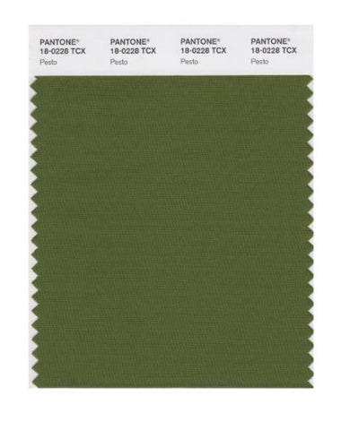Pantone Smart 18-0228X Color Swatch Card, Pesto