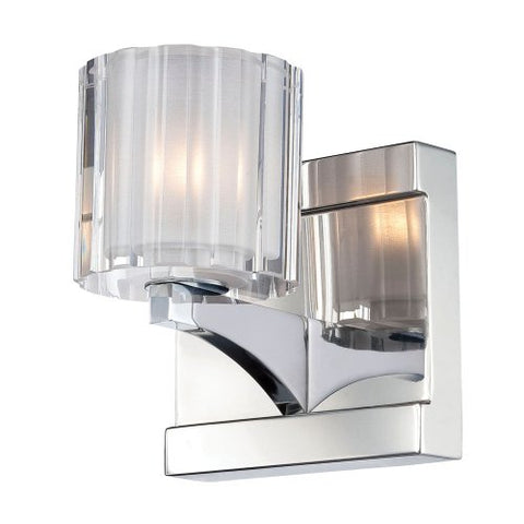 Alico Lighting Bv3001-0-15 Vanity, Chrome Finish With Clear Glass Shades
