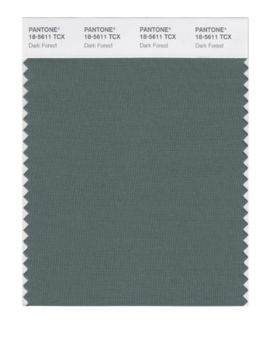 Pantone Smart 18-5611X Color Swatch Card, Dark Forest