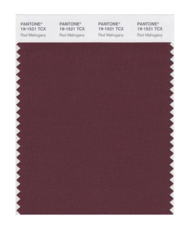 Pantone Smart 19-1521X Color Swatch Card, Red Mahogany
