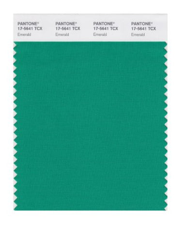 Pantone Smart 17-5641X Color Swatch Card, Emerald
