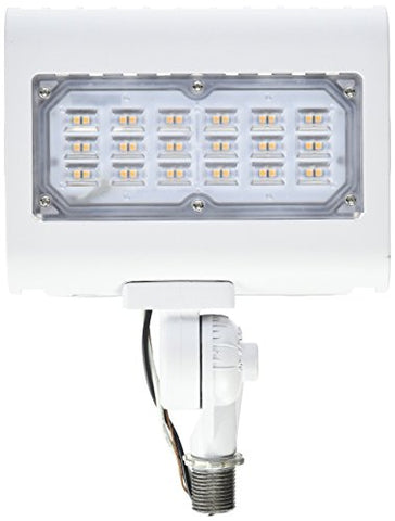 Morris 71556 30W 3000K Led Flat Panel Flood Light With 1/2  Adjustable Knuckle Mount, 2900 Lm, 120-277V, White