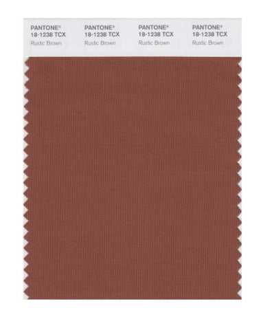 Pantone Smart 18-1238X Color Swatch Card, Rustic Brown