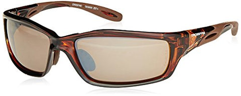 Crossfire Crossfire Safety Glasses Infinity Brown Frame Hd Brown Mirror Lens