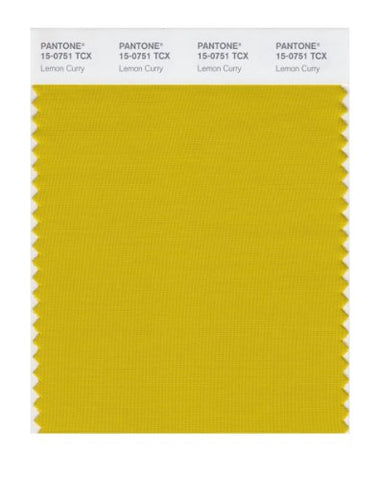 Pantone Smart 15-0751X Color Swatch Card, Lemon Curry