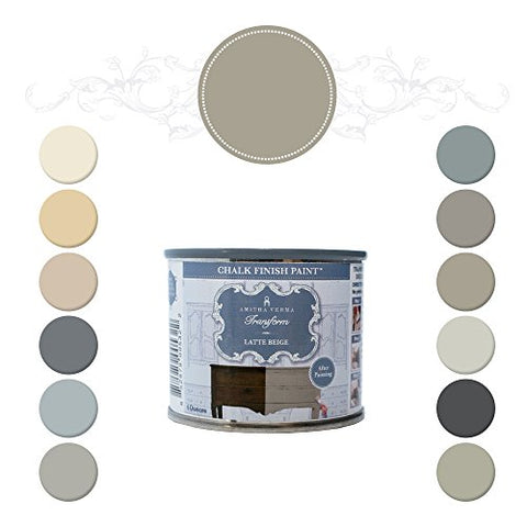 Amitha Verma Chalk Finish Paint, No Prep, One Coat, Fast Drying | Diy Makeover For Cabinets, Furniture &Amp; More, 4 Ounce, (Latte Beige)