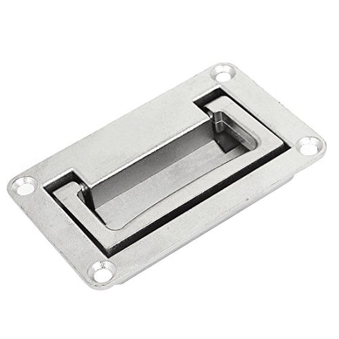 Uxcell A15032000Ux0050 Uxcell A15032000Ux0050 95Mm X 60Mm Metal Rectangle Shaped Recessed Folding Pull Handle Grip, Metal