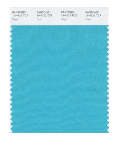 Pantone Smart 15-4722X Color Swatch Card, Capri