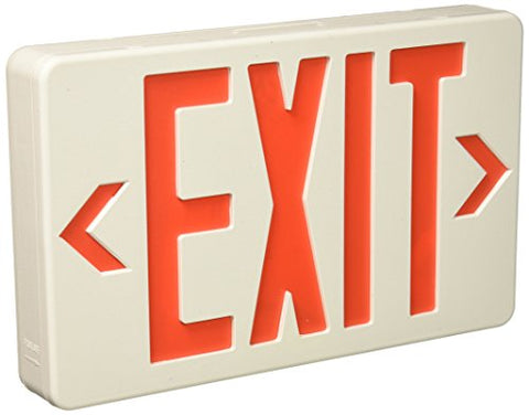 Royal Pacific Rxl5Rw Led Exit Sign, White With Red Letters