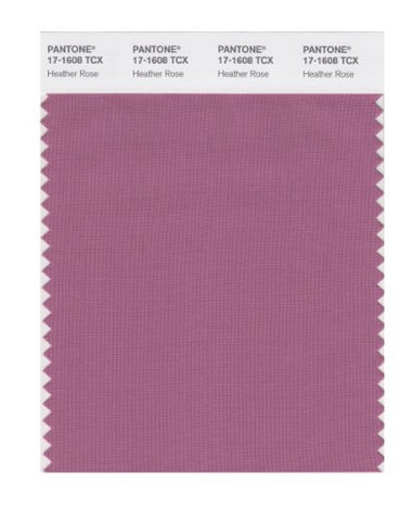 Pantone Smart 17-1608X Color Swatch Card, Heather Rose