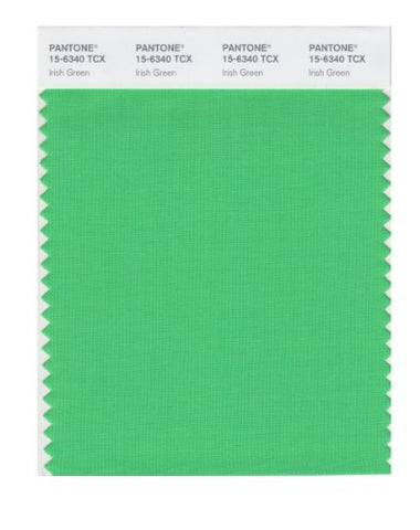 Pantone Smart 15-6340X Color Swatch Card, Irish Green