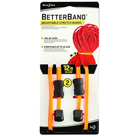Nite Ize Betterband, Adjustable Stretch Band With Cord Lock, 12-Inch, Bright Orange