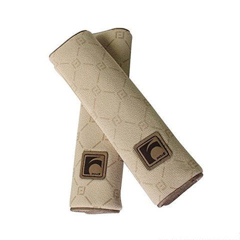 Auto Car Seat Belt Cover Plush Seat Shoulder Pad Cushion Strap Covers 2 Pcs One Pair (Beige)