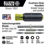 Screwdriver Nut Driver 11 In 1 Has Phillips And Square Bits, Nut Drivers, Core Remover, More Klein Tools 32527