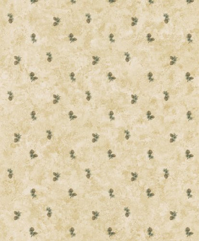 Brewster 145-62645 Northwoods Lodge Oxford Beige Pinecones Wallpaper