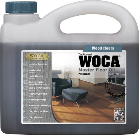 Woca Master Floor Oil 1 Liter (Natural) By Woca Denmark