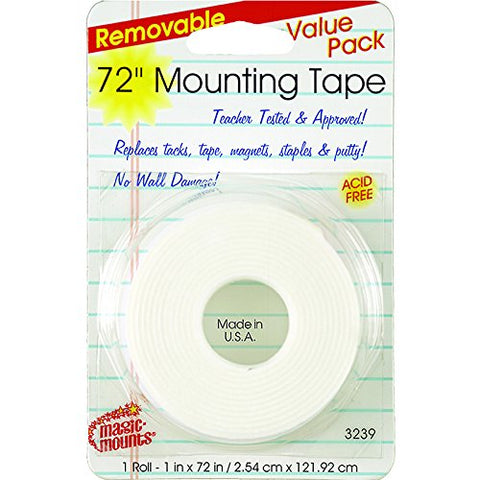 Removable Mounting Tape 1  X 72