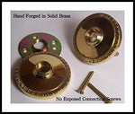 Solid Natural Brass Egg &Amp; Dart Retrofit Rosettes Retrofit To Fit Your Finest Antique Knobs In Modern Pre-Drilled Doors. Hand Forger Natural Brass With A Premium Self-Connecting System, Concealed Screw
