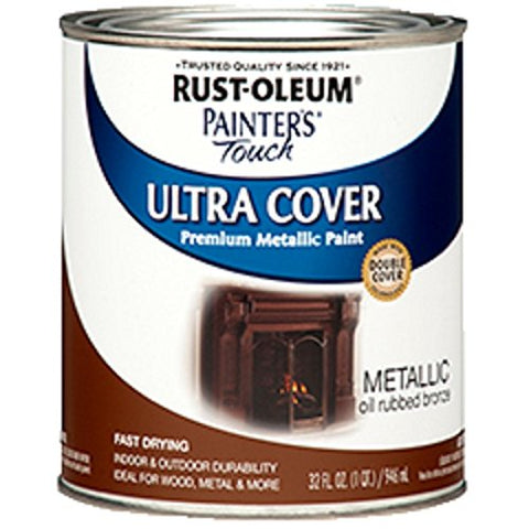 Rust-Oleum 254101 Painters Touch Quart Oil Based, Metallic Oil-Rubbed Bronze