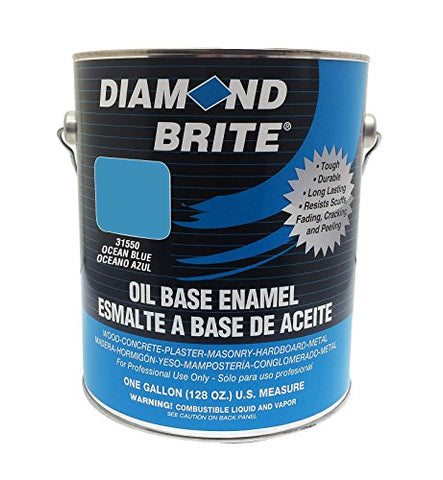 Diamond Brite Paint 31550 1-Gallon Oil Base All Purpose Enamel Paint   Ocean Blue