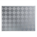 Fasade Easy Installation Miniquattro Argent Silver Backsplash Panel For Kitchen And Bathrooms (18  X 24  Panel)