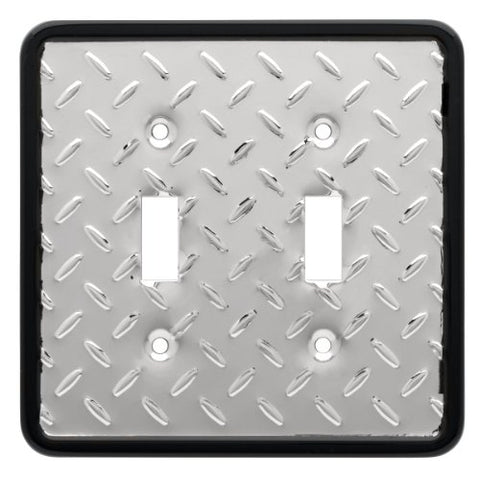 Franklin Brass 135861 Diamond Plate Double Toggle Switch Wall Plate / Switch Plate / Cover