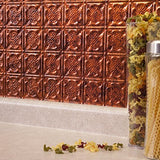 Fasade Easy Installation Backsplash 18Inx24In Traditional 6 Moonstone Copper Backsplash Panel For Kitchen And Bathrooms