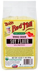 Bob'S Red Mill Organic Whole Ground Soy Flour, 1 Lb (16 Oz / 453 G)