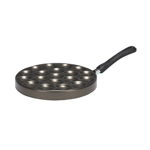 Patisse Pancake Aluminium Pan, Grey Metallic/Black