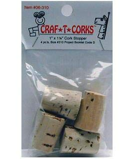 Hearts &Amp; Crafts Craf-T-Cork Stopper 4Pc 1X1.25