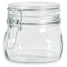 Bormioli Rocco Case Of 6 Fido Latch Lid 500Ml (16 Oz) Square Canning Cosmetic Storage Hermetic Italian Jars From Italy