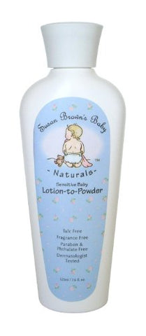 Susan Brown'S Baby Sensitive Baby Lotion-To-Powder, Talc Free Oil And Fragrance Free, 7.6-Ounce Bottle