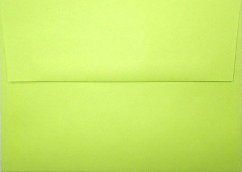 A7 Envelopes - Lime - 5 1/4 X 7 1/4 (For 5X7 Cards)