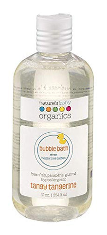Nature'S Baby Organics Moisturizing Bubble Bath, Tangy Tangerine, 12 Oz. | Gentle, Soft, Rich, Hypoallergenic | No Harsh Synthetic Chemicals, Parabens, Sls, Or Glutens | Gifts For Baby &Amp; Wife