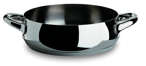 Alessi,Sg102/24 Mami , Low Casserole With Two Handles In 18/10 Stainless Steel Mirror Polished,2 Qt 32 Oz
