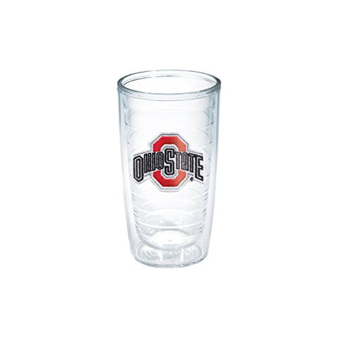 Tervis 1006797 Ohio State University Emblem Individual Tumbler, 16 Oz, Clear