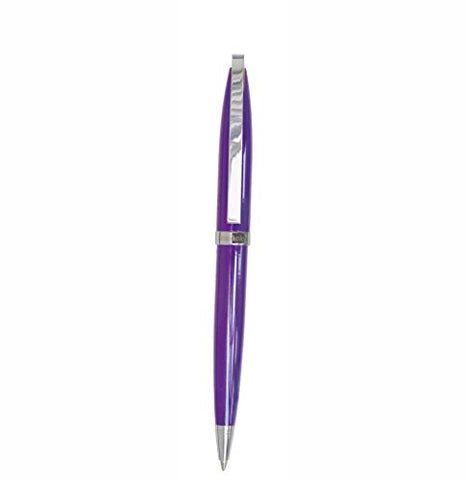 Semikolon Eclipse Ballpoint Pen In Decorative Box, Oval Barrel Design With Swiss Black Ink, Plum (7800018)