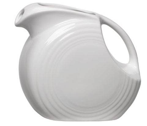 Fiesta 67-1/4-Ounce Large Disk Pitcher, White