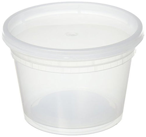 Deli Food Storage Containers With Lids, 16 Ounce, 12 Count