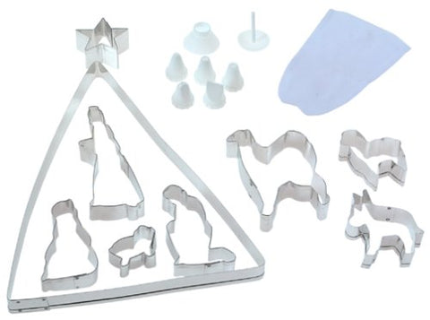 Fox Run 4536 Nativity Scene Cookie Cutter And Icing Bake Set, 21-Piece