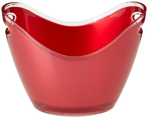 Prodyne Ss-Pd-G-2-R Acrylic Wine Bucket 2 Bottle Red