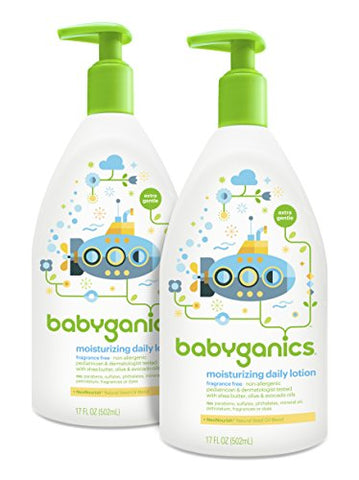 Babyganics Daily Baby Lotion, Fragrance Free, 17 Ounce