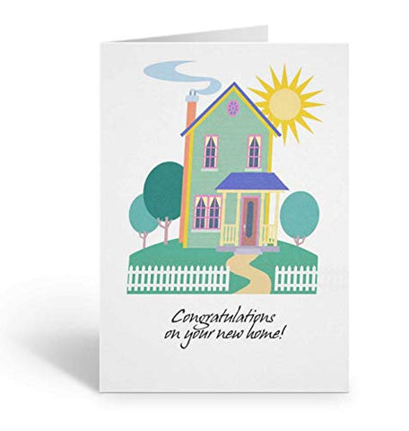 Congratulations On Your New Home Card Pack - 18 5X7 Cards &Amp; Envelopes
