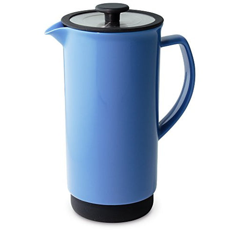 Forlife Cafe Style Coffee/Tea Press, 32-Ounce, Blue