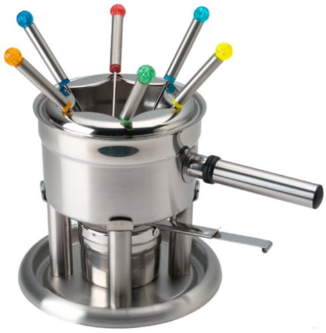 Hoffritz Stainless Steel Fondue Set With 6 Forks