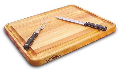 Catskill Craftsmen 20-Inch Pro Series Reversible Cutting Board With Groove