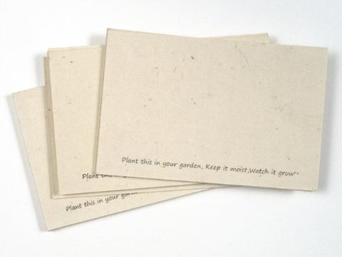 Handmade Seeded Plantable Recycled Note Paper 100 Sheets Each 6 X 4 Inches