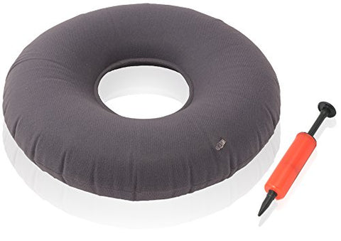 Dr. Frederick'S Original Donut Cushion - 18  Inflatable Ring Cushion - Hemorrhoid Treatment, Bed Sores, Coccyx &Amp; Tailbone Pain, Child Birth, Prostatitis